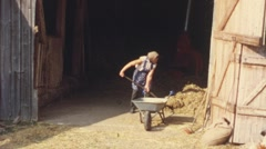 Farm life in the 1960s (vintage 8 mm amateur film) Stock Footage
