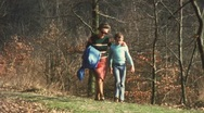 Stock Video Footage of Familiy hike time lapse (vintage 8 mm amateur film)
