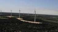Wind Turbines Aerial View From A Helicopter Stock Footage