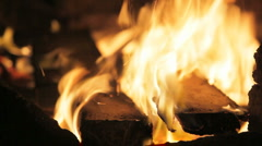 fireplace 02 - stock footage