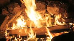 Fireplace 01 Stock Footage