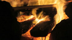 fireplace 03 - stock footage