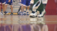 High school men's basketball warmups Stock Footage