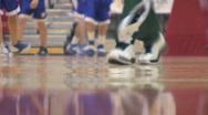 High school men's basketball warmups Stock Footage