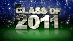 Class of 2011 Green HD - stock footage