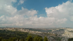 Jerusalem timelapse wide 0311 Stock Footage