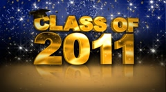 Class of 2011 Gold HD - stock footage