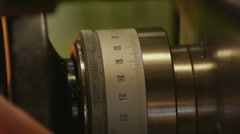 The Fine Adjustment Of The Lathe Stock Footage
