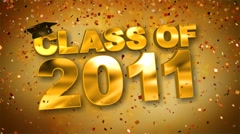 Class of 2011 Confetti Red HD Stock Footage