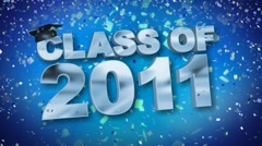 Class of 2011 Confetti Blue HD Stock Footage