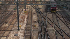 Train rail hub 12 Stock Footage