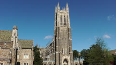 Duke University Chapel Stock Footage