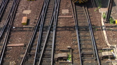 Train rail hub 13 Stock Footage