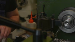 Screw-threading of steel billet Stock Footage