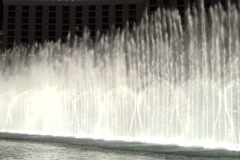 Bellagio water show at night detail V2 - NTSC Stock Footage