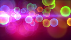 Colorful background with circles. Stock Footage