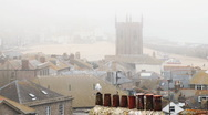 Stock Video Footage of Timelapse sea mist over St Ives.