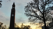 UNC bell tower time lapse Stock Footage