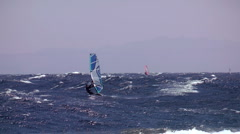 Windsurfing rider Stock Footage