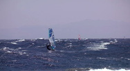 Stock Video Footage of windsurfing rider