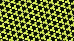 Strobing yellow triangles loop animation Stock Footage