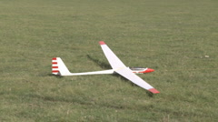 Model tow plane and model glider launch Stock Footage