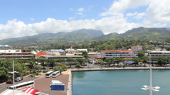 Papeete city view Stock Footage