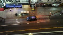 Busy street corner time lapse Stock Footage