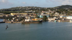 Antigua leaving St. John's  Stock Footage
