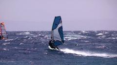 High jump  windsurfing freestyle Stock Footage