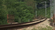 Train track countryside 01 Stock Footage