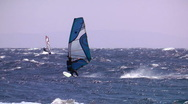 Windsurfing high jump somersault Stock Footage