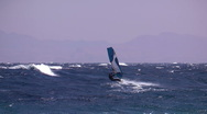 Windsurfing jump  Stock Footage