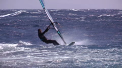 Windsurfing freestyle Stock Footage