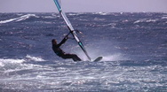 Stock Video Footage of windsurfing freestyle