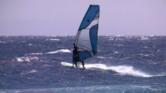 High jump from wave windsurfing  Stock Footage