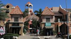 Aruba shopping mall Stock Footage