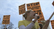 Stock Video Footage of U.S. anti-war protester 1 of 3