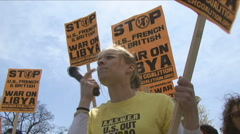 U.S. anti-war protester 3 of 3 - stock footage