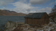 Small lodge at Loch Muick 3 Stock Footage
