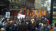 Stock Video Footage of Anti Goverment Cuts Protest 2