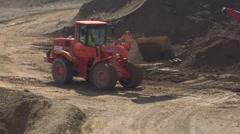 Contruction site scraper 03 Stock Footage