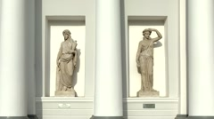 Priestess of goddesses and goddess Demeter, St. Petersburg, Russia Stock Footage