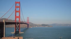 San Francisco Golden Gate Bridge Wide View - stock footage