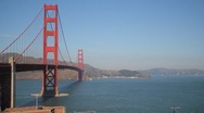 Stock Video Footage of San Francisco Golden Gate Bridge Wide View