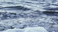 Ice chunks floating in lake 4 Stock Footage
