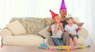 Happy family on Birthday Stock Footage
