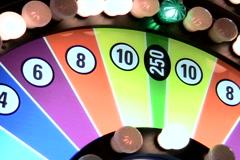 Wheel of fortune Las Vegas close-up - NTSC - stock footage