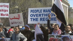Anti-Yemen government protest Stock Footage