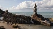 Beach sculpture Stock Footage